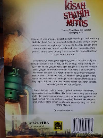 Buku Kisah Shahih Dan Mitos Tentang Nabi Rasul Sahabat Cover 2