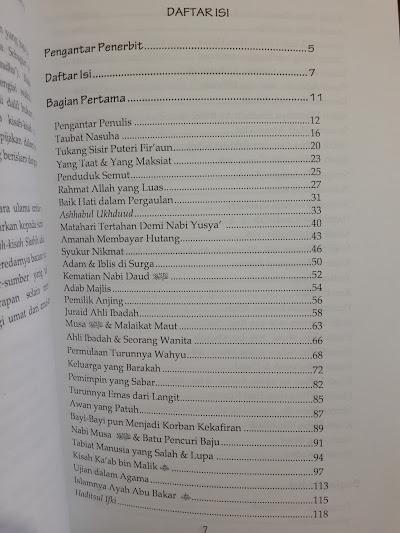 Buku Kisah Shahih Dan Mitos Tentang Nabi Rasul Sahabat Daftar Isi