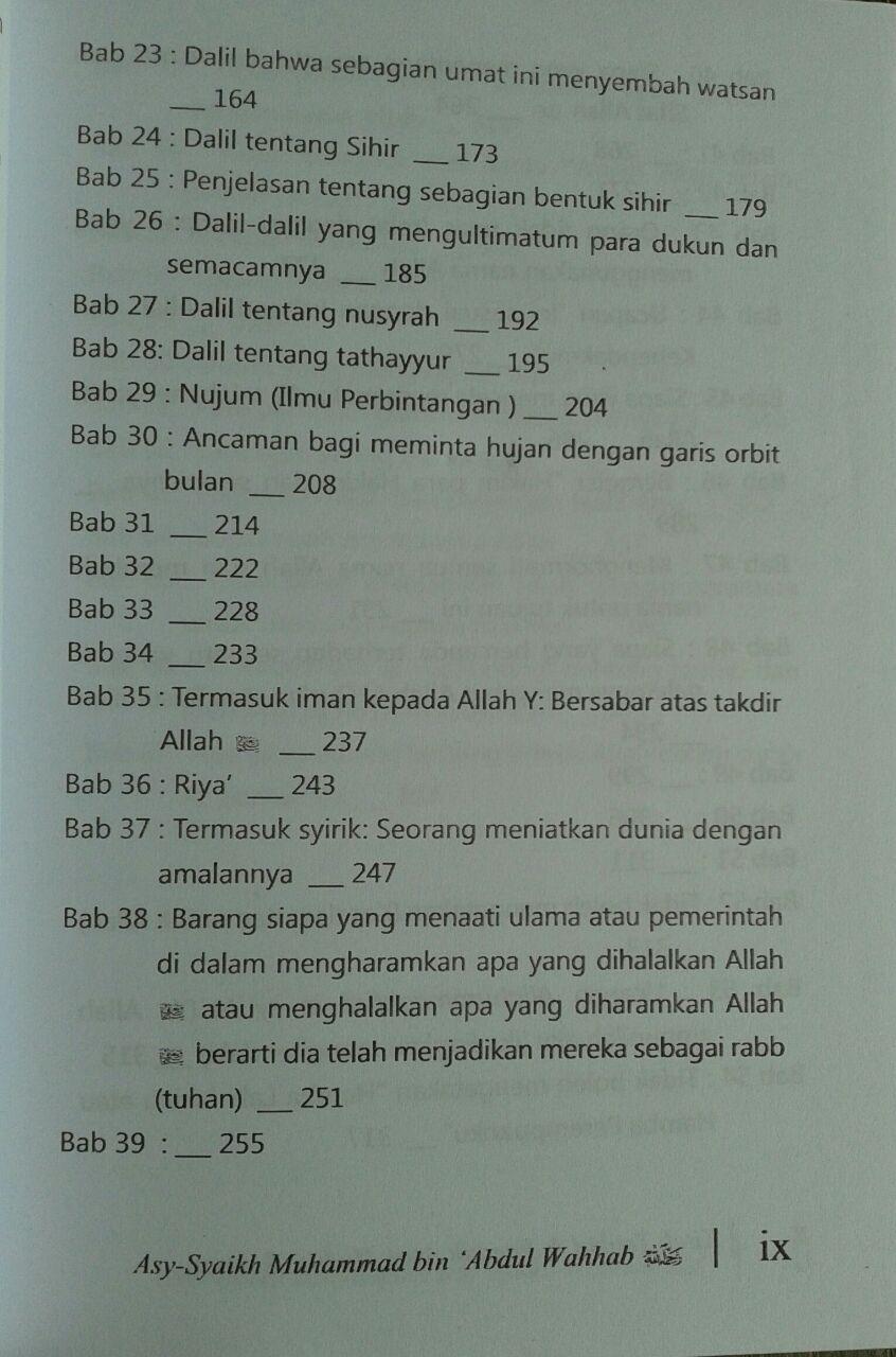 Buku Kitab Tauhid Dilengkapi Faedah Faedah Ayat Hadits Atsar isi 2