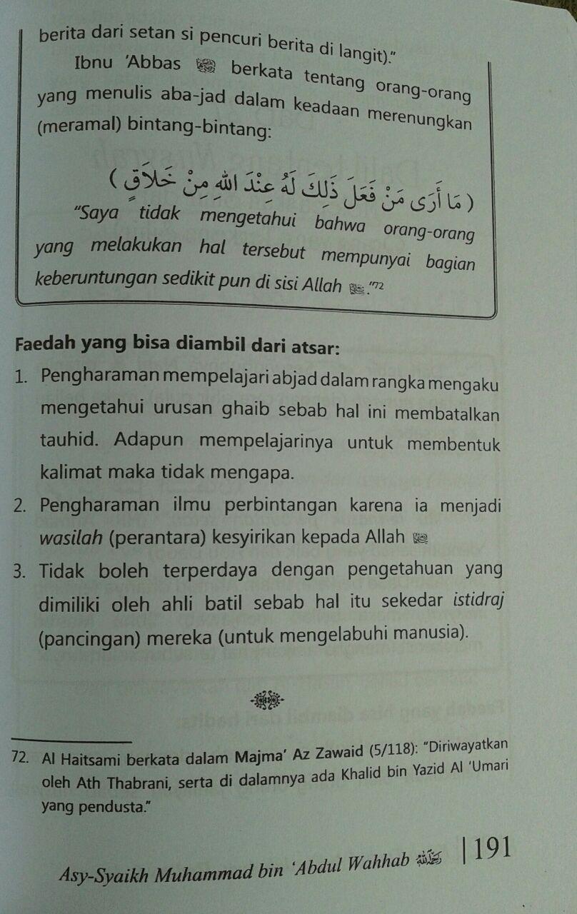 Buku Kitab Tauhid Dilengkapi Faedah Faedah Ayat Hadits Atsar isi 3