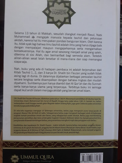 Buku Kitab Tauhid Oleh Syaikh Fauzan Cover 2
