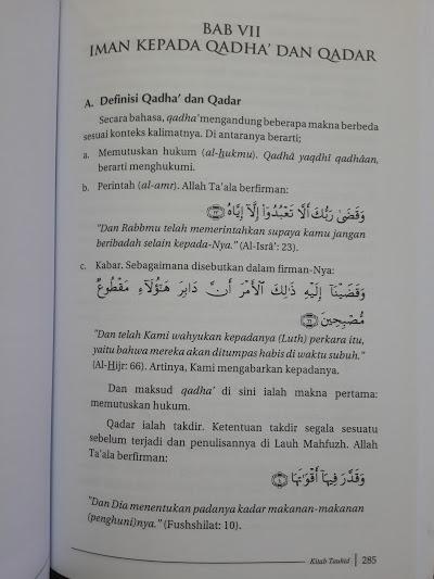 Buku Kitab Tauhid Oleh Syaikh Fauzan Isi