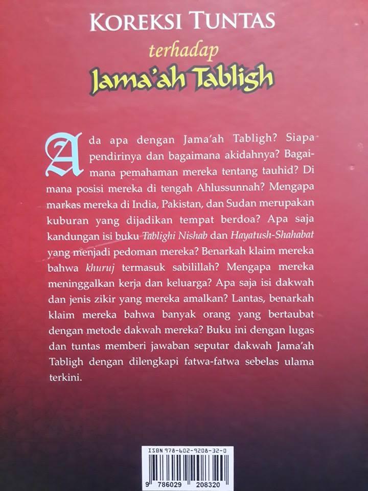 Buku Koreksi Tuntas Terhadap Jamaah Tabligh Cover 2