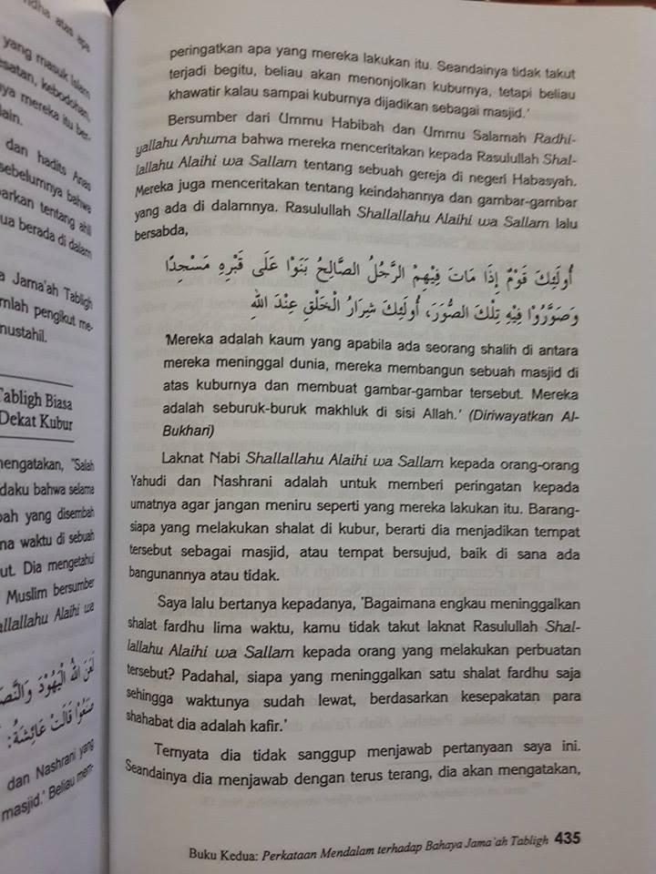 Buku Koreksi Tuntas Terhadap Jamaah Tabligh Isi