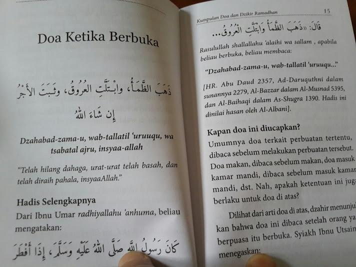 Buku Saku Kumpulan Doa Dan Dzikir Ramadhan Isi