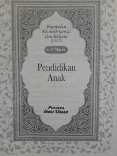 Buku Kumpulan Khutbah Jumat Dan Kultum 2 Isi