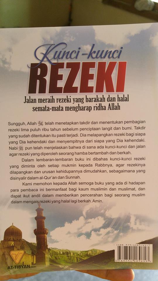 kunci-kunci rezeki jalan meraih rezeki yang barokah dan halal buku cover 2