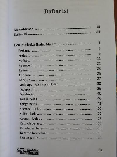 Buku Kupas Tuntas Shalat Malam Dari A-Z Daftar Isi