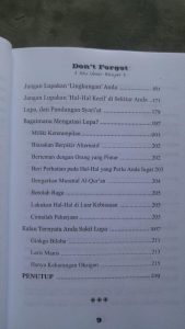 Buku Laa Tansa Don't Forget isi