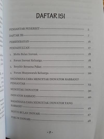 Buku Langkah Dahsyat Mencetak Anak Menjadi Inovator Robbani Daftar Isi