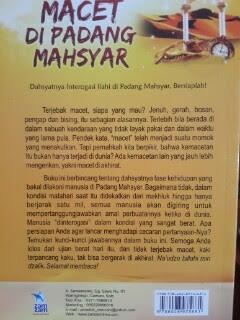 Buku Macet Di Padang Mahsyar Cover Belakang