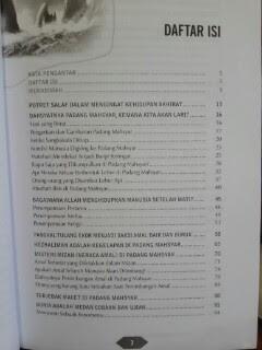 Buku Macet Di Padang Mahsyar Daftar Isi