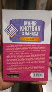 Buku Mahir Khotbah 3 Bahasa: Arab - Indonesia - Inggris cover 2