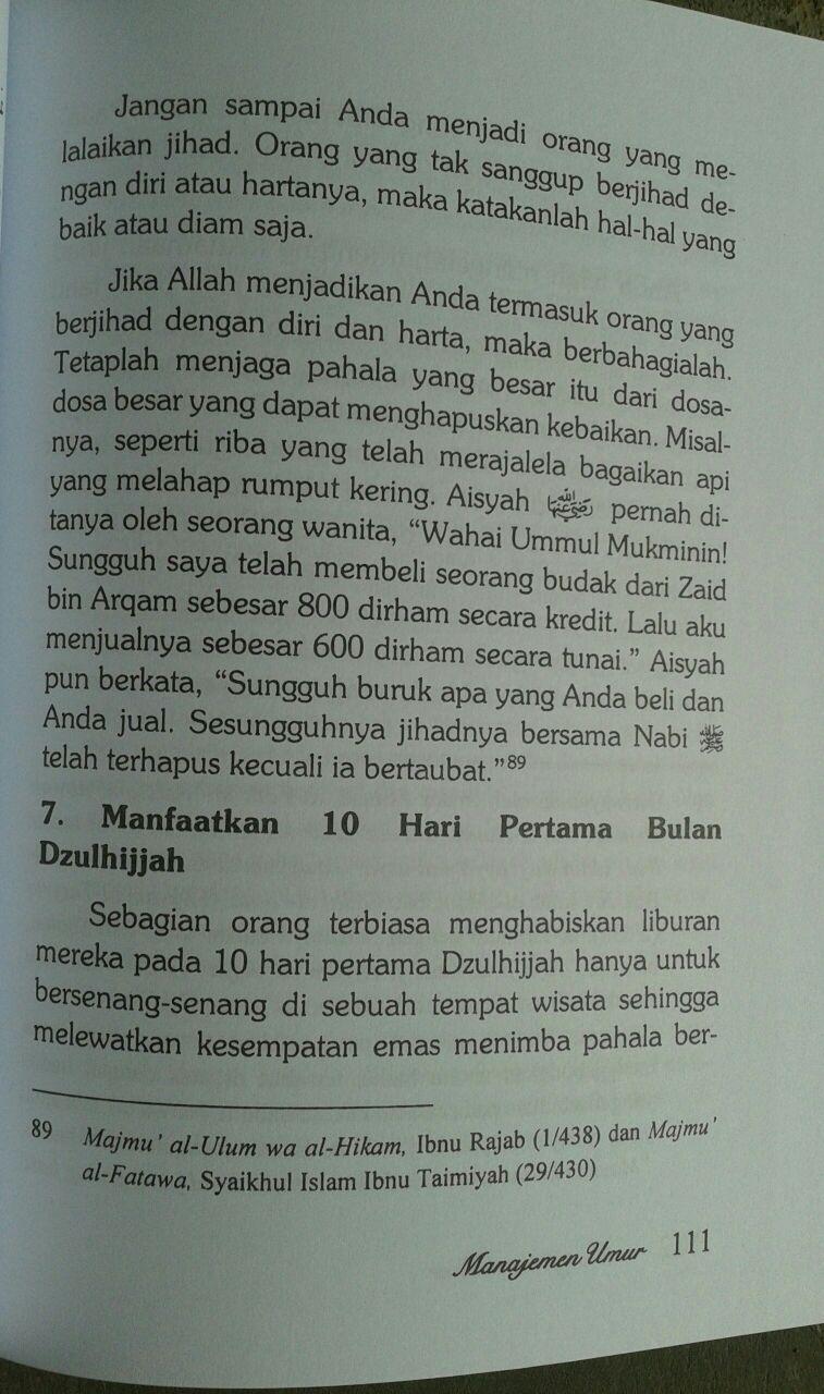 Buku Manajemen Umur Resep Sunnah Menambah Pahala Dan Usia isi 2