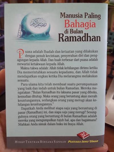 Buku Saku Manusia Paling Bahagia Di Bulan Ramadhan Cover Belakang