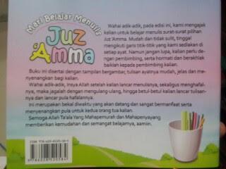 Buku Anak Mari Belajar Menulis Juz Amma Cover 2
