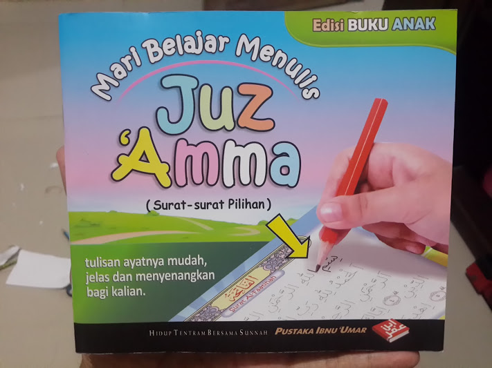 Buku Anak Mari Belajar Menulis Juz Amma Cover