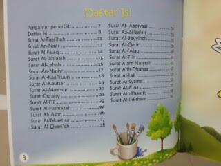 Buku Anak Mari Belajar Menulis Juz Amma Daftar Isi