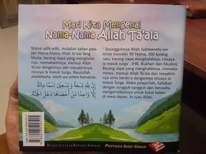 Buku Anak Mari Kita Mengenal Nama-Nama Allah Ta'ala Cover 2