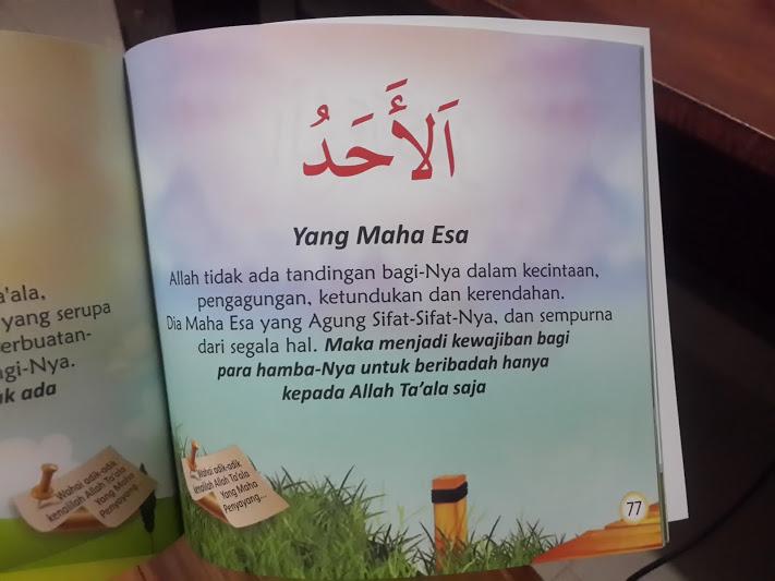 Buku Anak Mari Kita Mengenal Nama-Nama Allah Ta'ala Isi