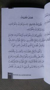 Buku Saku Terjemah Dan Matan Al-Ajurumiyah isi