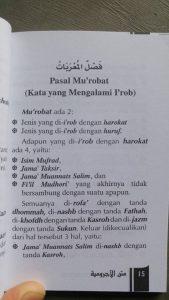 Buku Saku Terjemah Dan Matan Al-Ajurumiyah isi 2