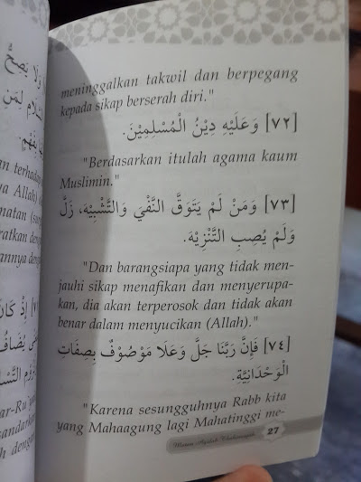 Buku Saku Matan Al-Aqidah Ath-Thahawiyah Isi