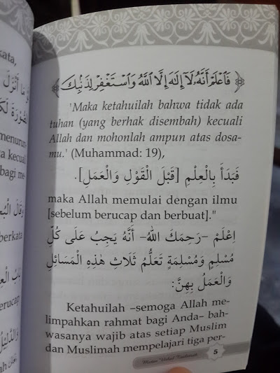 Buku Saku Matan Al-Utshul Ats-Tsalatsah Isi