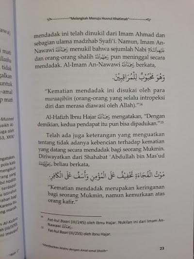 Buku Melangkah Menuju Husnul Khatimah Isi