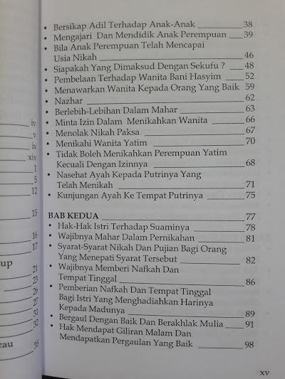 Buku Membela Hak-Hak Wanita Daftar Isi