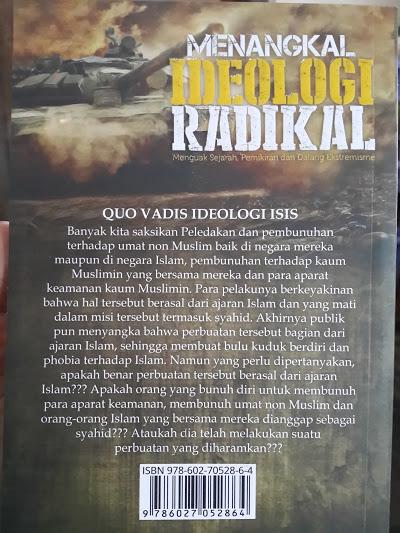Buku Menangkal Ideologi Radikal Cover Belakang