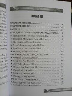 Buku Menangkal Ideologi Radikal Daftar Isi