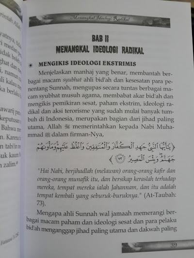 Buku Menangkal Ideologi Radikal Isi