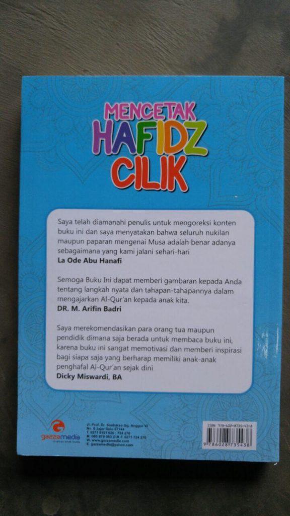 Buku Mencetak Hafidz Cilik Meniti Jejak La Ode Musa cover 2