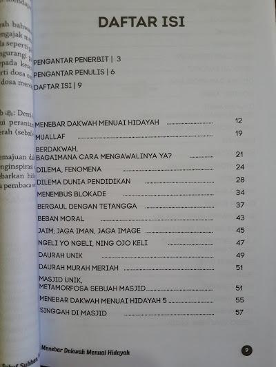 Buku Menebar Dakwah Menuai Hidayah Daftar Isi