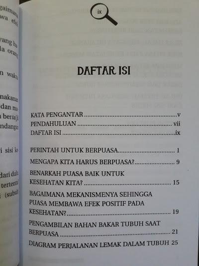 Buku Mengapa Kita Harus Berpuasa Daftar Isi