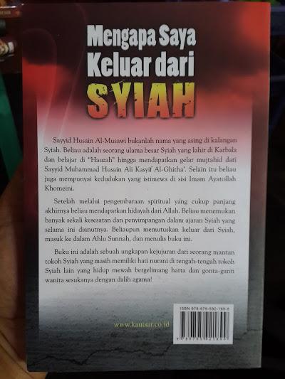 Buku Mengapa Saya Keluar Dari Syiah Cover Belakang