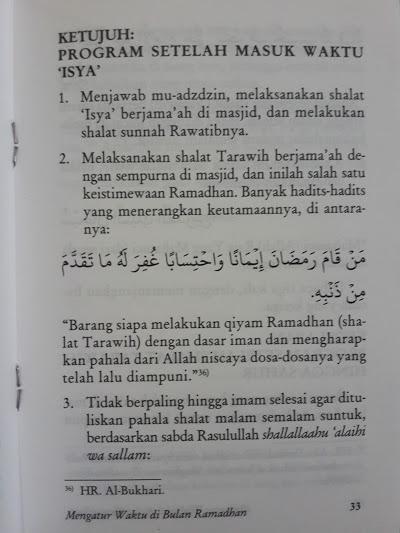 Buku Saku Mengatur Waktu Di Bulan Ramadhan Isi