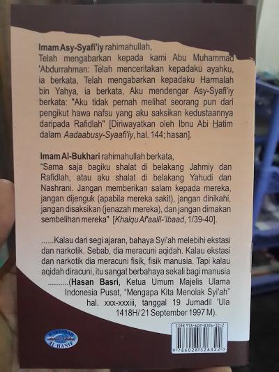 Buku Saku Mengenal Syi'ah Lebih Dekat Cover Belakang