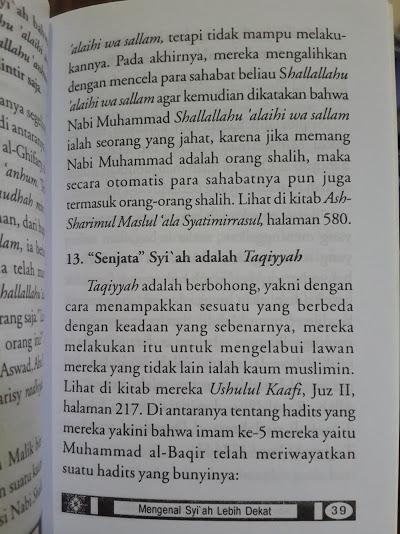 Buku Saku Mengenal Syi'ah Lebih Dekat Isi