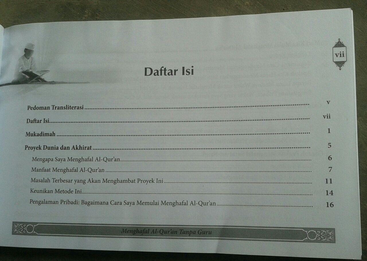 Buku Mengahfal Al-Qur'an Tanpa Guru isi