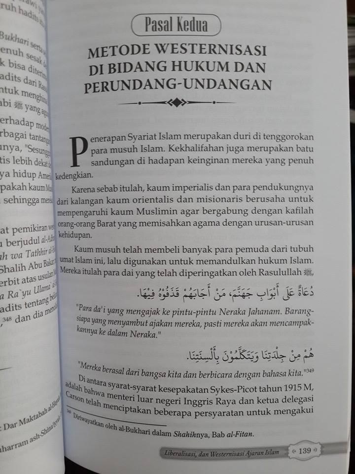 Buku Mengupas Gerakan Modernisasi Liberalisme Ajaran Islam Isi