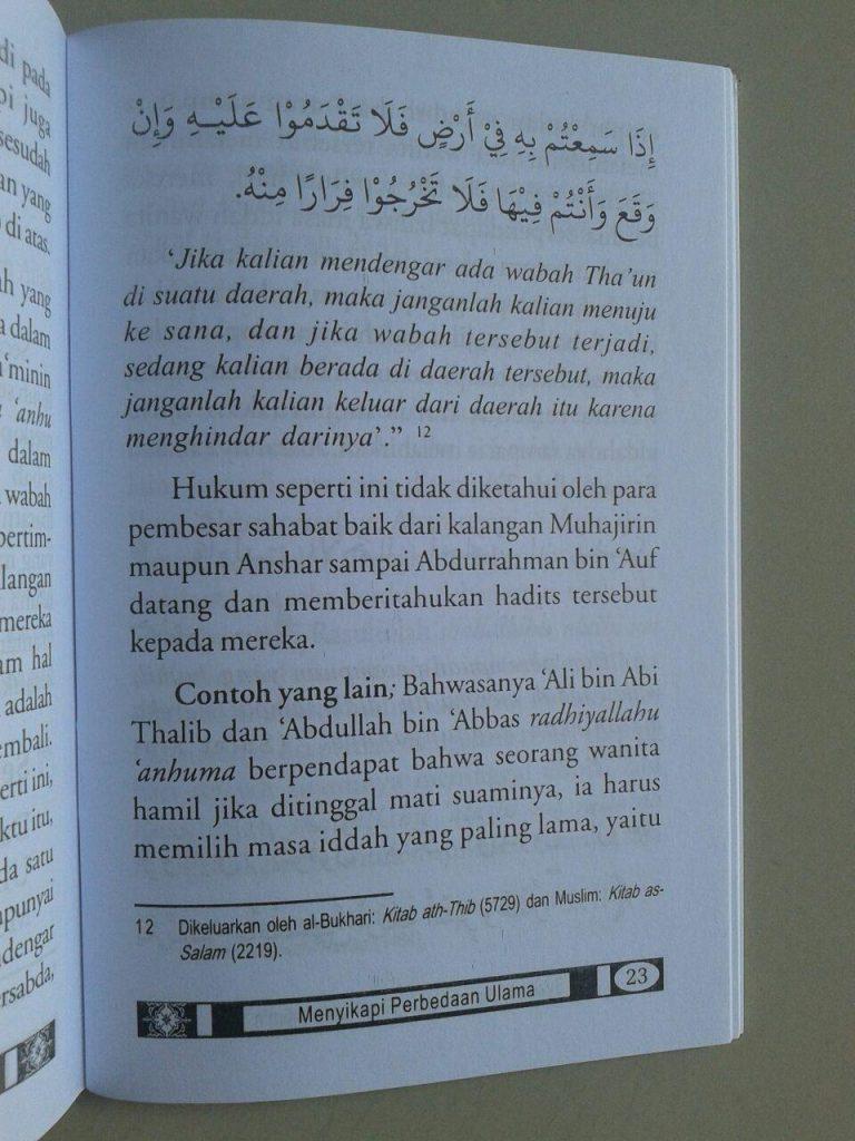 Buku Saku Menyikapi Perbedaan Ulama isi 3