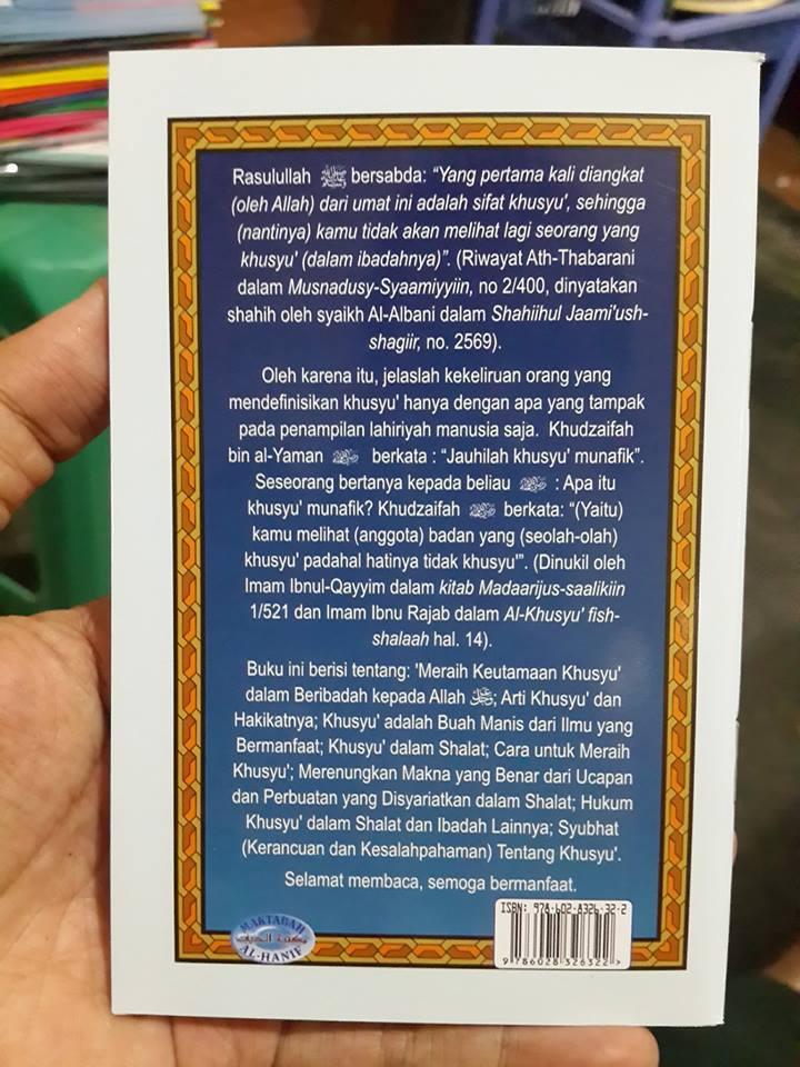 Buku Saku Meraih Keutamaan Khusyu Menurut Quran Sunnah Cover 2