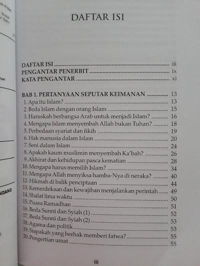Buku Mereka Bertanya Islam Menjawab Daftar Isi