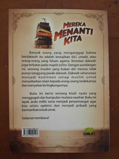 Buku Saku Mereka Menanti Kita Kado Untuk Aktifis Muslim Cover Belakang