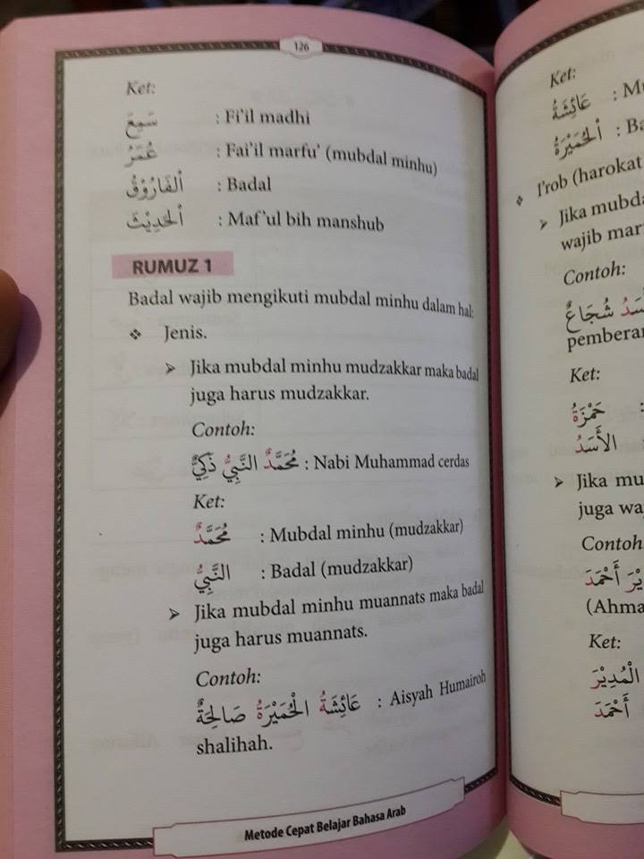 Buku Metode Cepat Belajar Bahasa Arab El-Matroed Isi 2
