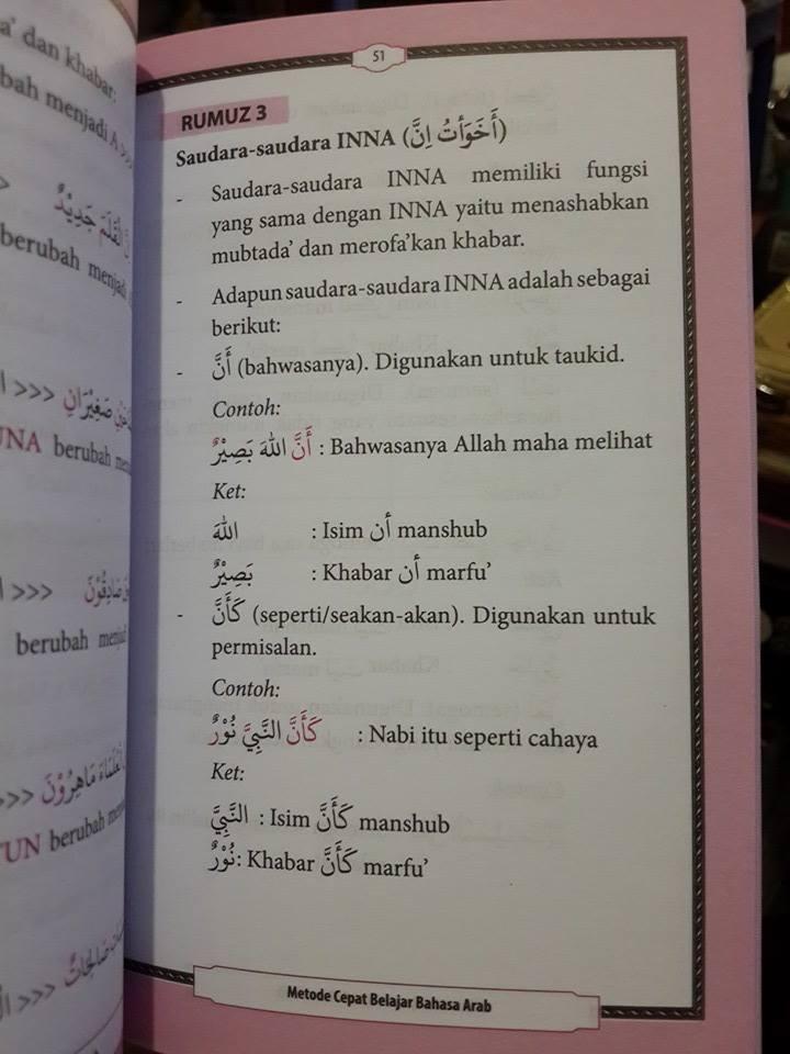 Buku Metode Cepat Belajar Bahasa Arab El-Matroed Isi 3