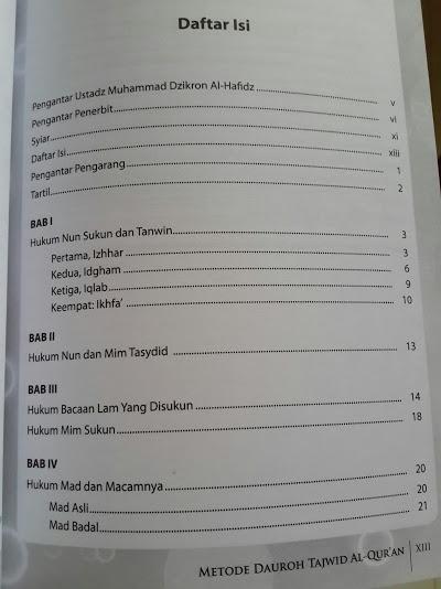 Buku Metode Daurah Tajwid Al-Quran Daftar Isi