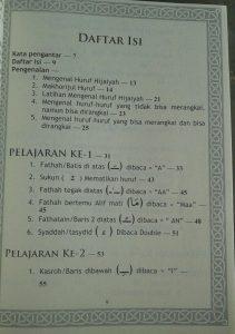 Buku Metode Mudah Membaca Al-Qur'an Iqro isi
